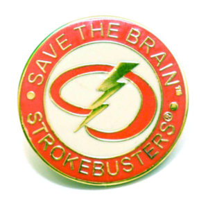 Save The Brain Lapel Pin from strokemadesimple.com